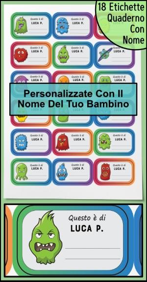 Etichette Quaderno Maschio Con Dettaglio 300px