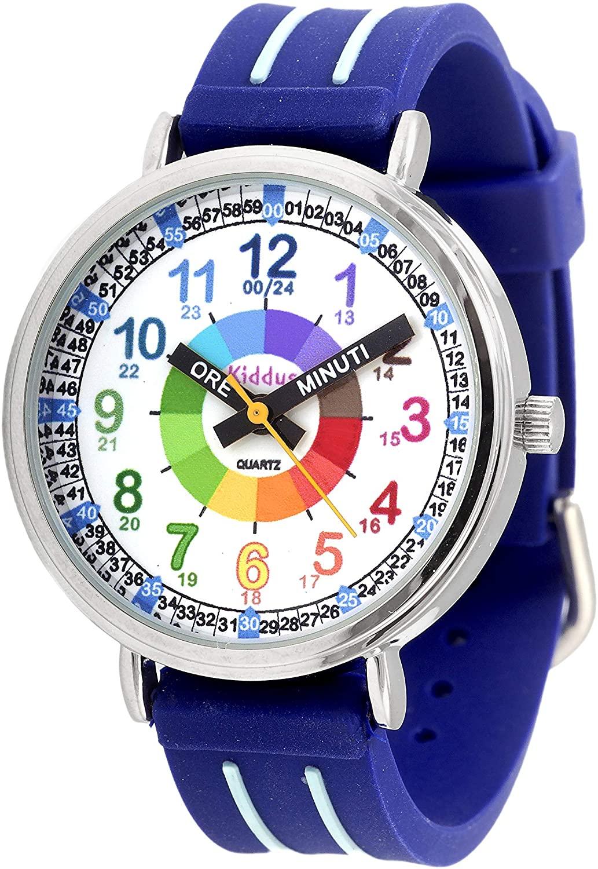 """Featured image for """"Orologio Didattico per Bambino Color Blu Kiddus"""""""