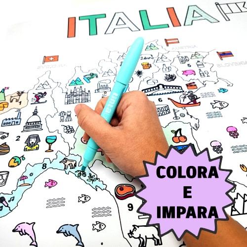 """Featured image for """"Imparare Divertendosi: MAXI Poster DIDATTICO Conosci l'ITALIA"""""""