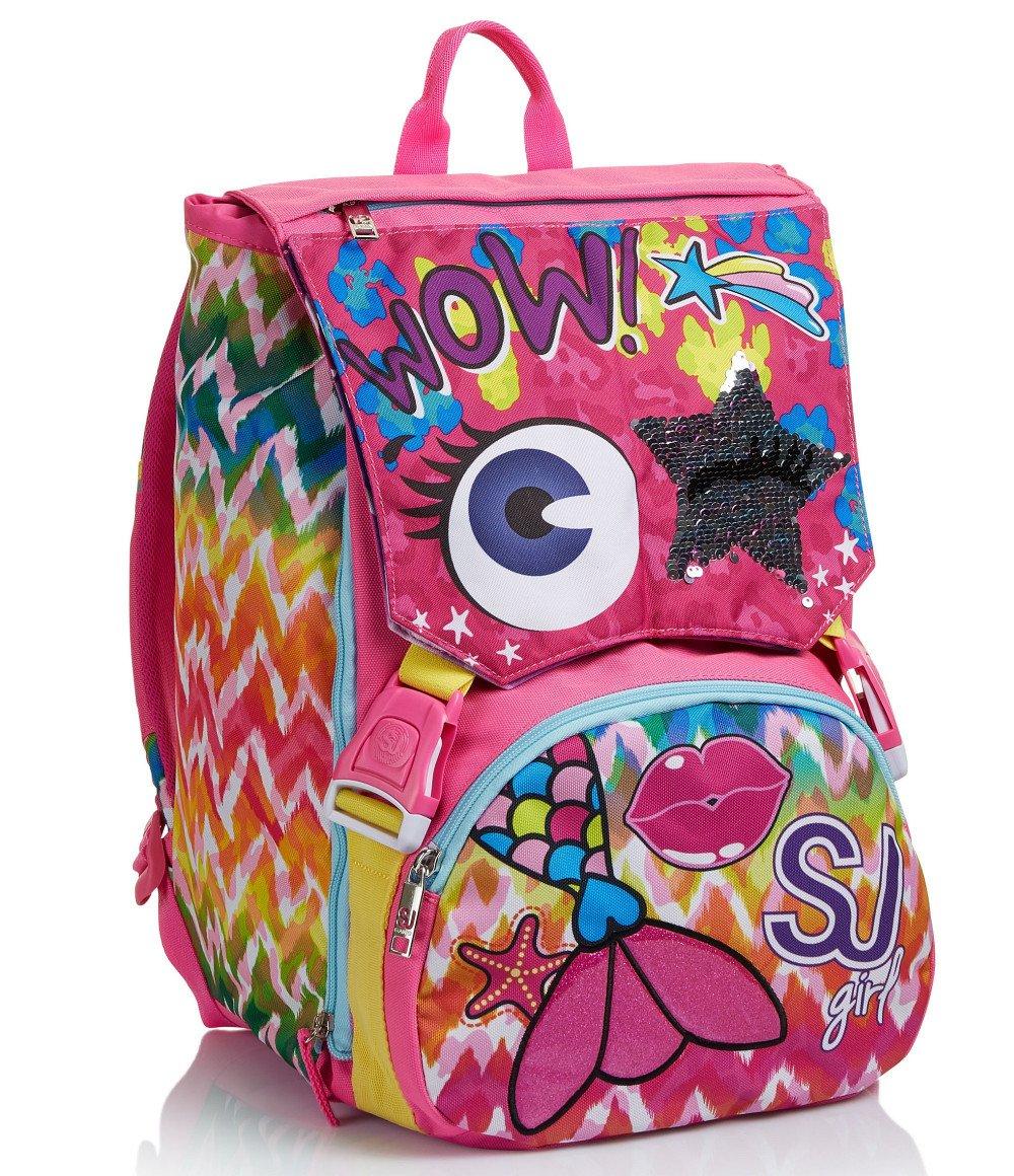 """Featured image for """"Zaino SJ Sdoppiabile Faccine Girl Rosa Multicolore"""""""